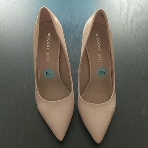 Nude Patent Leather Heels